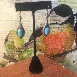 Beautiful turquoise and ss drop earrings